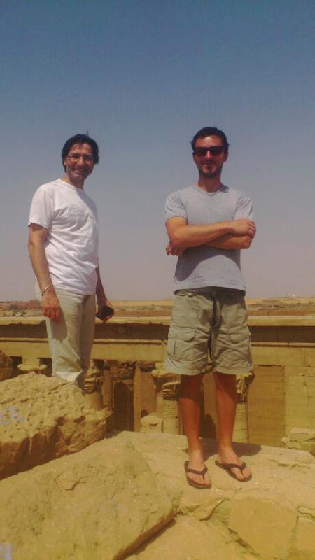 Alberto in missione con Antonio Curci