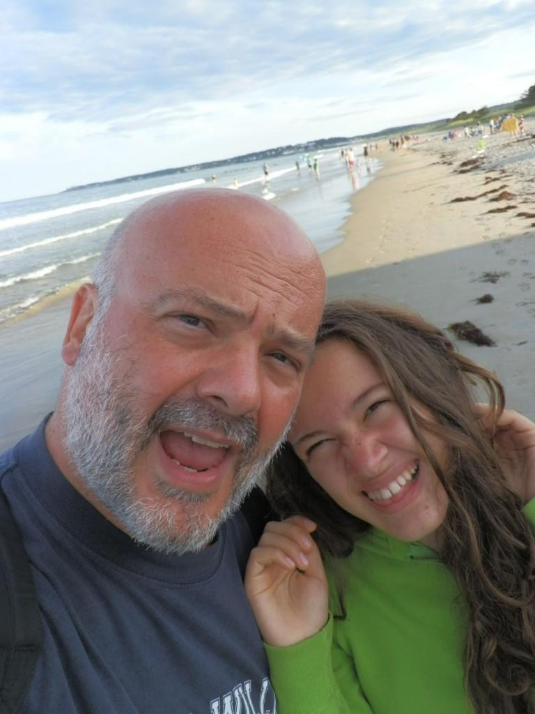 Michele Lupoi con la figlia