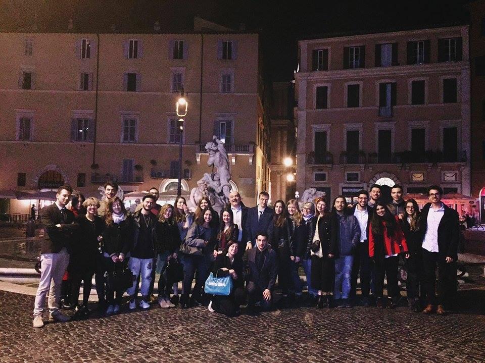 Gruppo giuristi ravennati a Roma