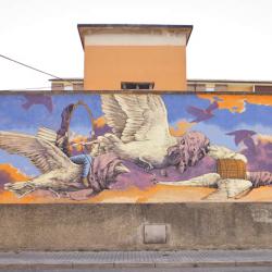 biciclettata fra i murales
